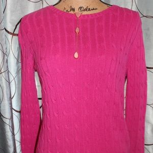 Pink St. John's Bay Classic Sweater Size PS